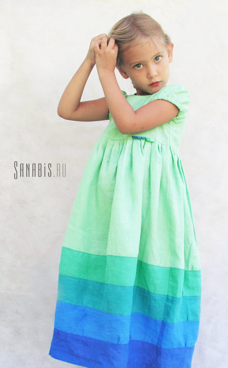 Детские платья из льна