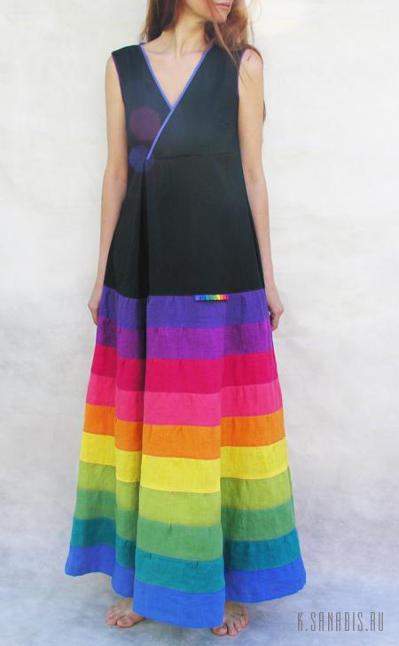 Многоцветные платья из льна Sanabis.